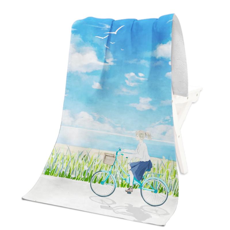 Рекламное полотенце размером 28x55 дюймов, пляжное полотенце с принтом на заказ, ткань из микрофибры, цифровая печать, теплопередача, сублимация