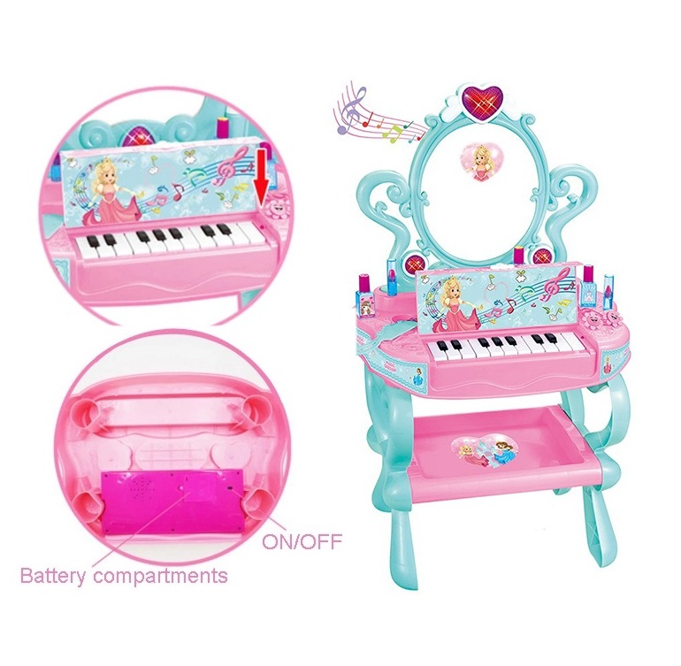 Gold Supplier Piano Keys Good-looking Dressing Table Play Toy With Light And Music