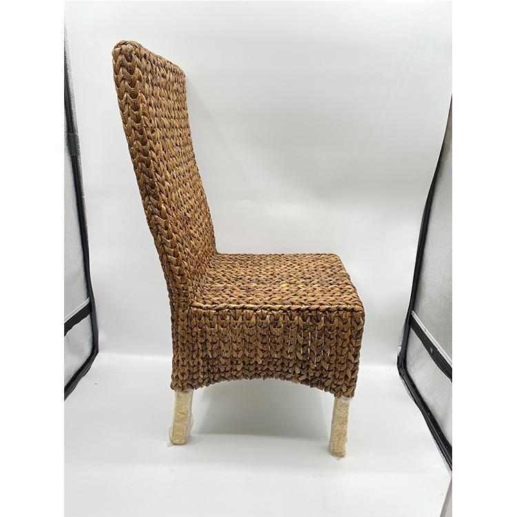 Тканые деревянные обеденные стулья ручной работы с бамбуковыми листьями