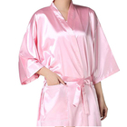 Bath Customized Hair Salon Robes Custom Logo Salon Women Bath Spa Hair Cutting Pink Kimono Robe