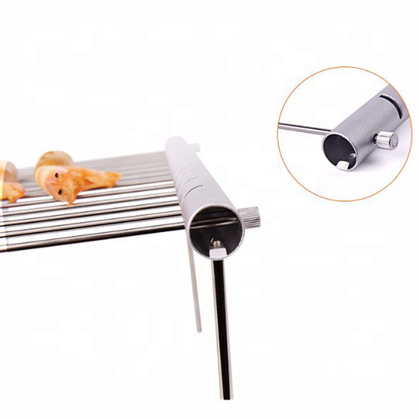 Portable Outdoor Charcoal Grills Folding Stainless Steel Barbecue Smoker BBQ Grill Outdoor Kitchen For 3-5 People
