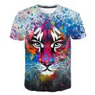 Print Clothes European And American Street Fashion 3D Digital Print Clothes Private Label T-shirts For Men