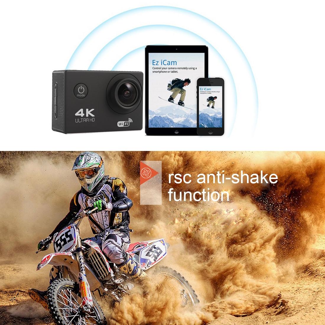 Портативный 4K спортивный DV-рекордер WiFi Беспроводная Видеокамера экшн-камера Водонепроницаемая видеокамера