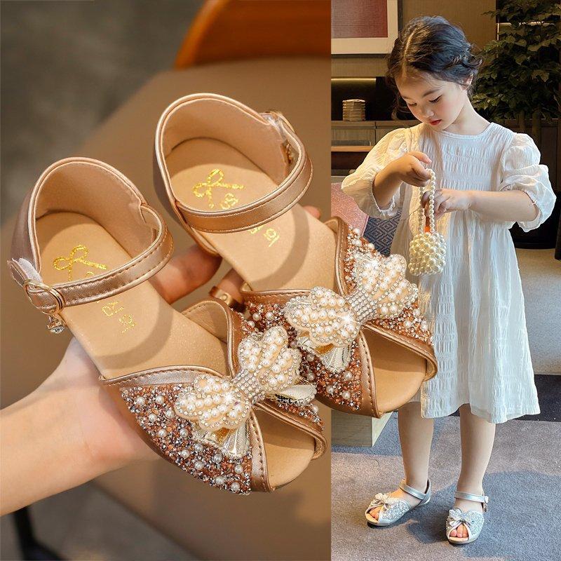 2021 горячая Распродажа, модная обувь со стразами и жемчугом; С бантом; Открытые сандалии MSgx-93