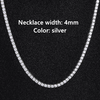 4mm Silver Necklace
