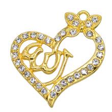 Оптовая продажа Новый кулон в форме сердца исламский Бог мусульманский кулон ожерелье DIY брелок аксессуары женские мусульманские ювелирны...(Китай)