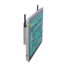 Wand montieren fanless touch screen computer mit 2 rs-232/485/422