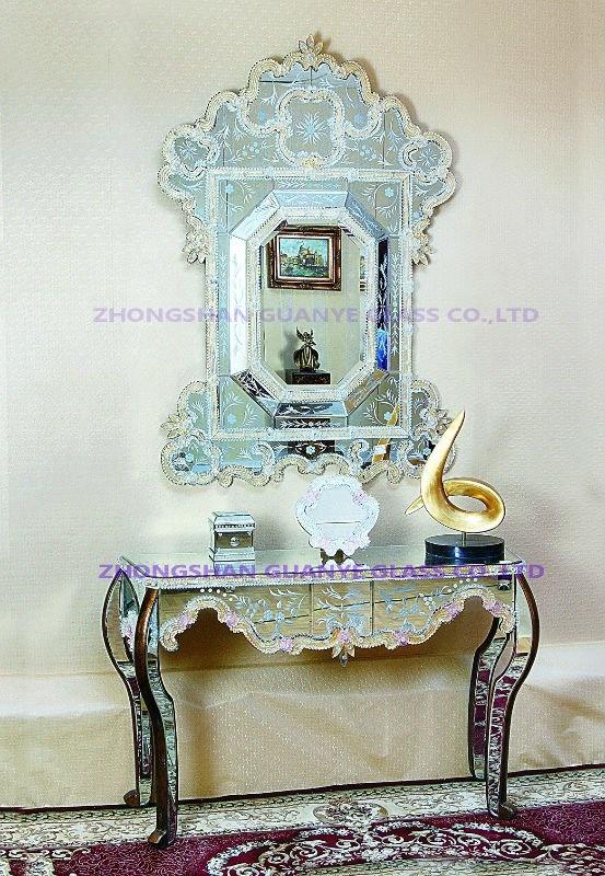 Современные горячие продажи новое поступление ручной работы в муранском Стиле Золотые кристаллы из бисера декоративные настенные зеркала
