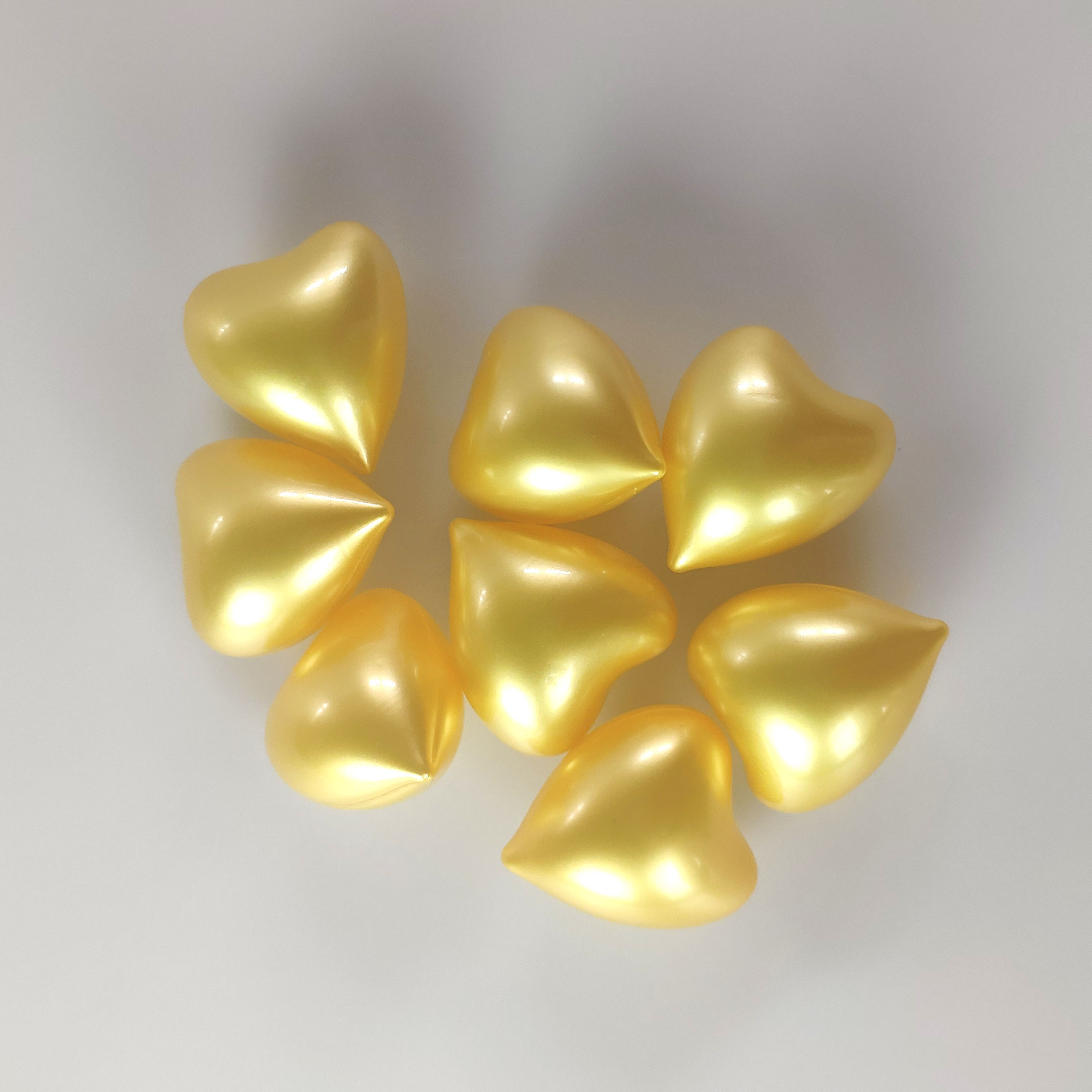 Wholesale High Quality Yellow heart shape heart Pearls Bath Oil Beads