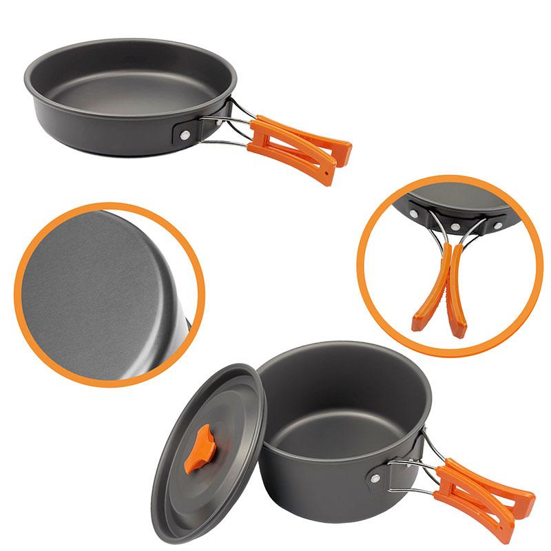 Camping teapot cookware set