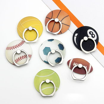 Mobile Stand Cartoon Funny Basketball Football Phone Finger Ring Tablet Hand Grip Acrylic Custom Holder for Iphone Phone Ipad