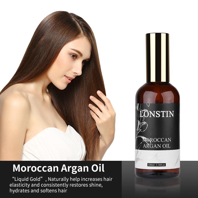 Custom Private Label OEM Organic Natural Hair Care Serum Product Treatment Argan Oil Morocco Hair Oil