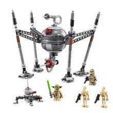 05025 робот-паук, строительные блоки, совместимые с Legoinglys, Звездные войны, 75142, Звездные войны, кирпичи, подарок на день рождения, игрушки для де...(China)
