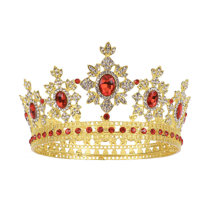 wholesale 2021 new luxury round royal crown big size beauty pageant wedding stage shows champion crown