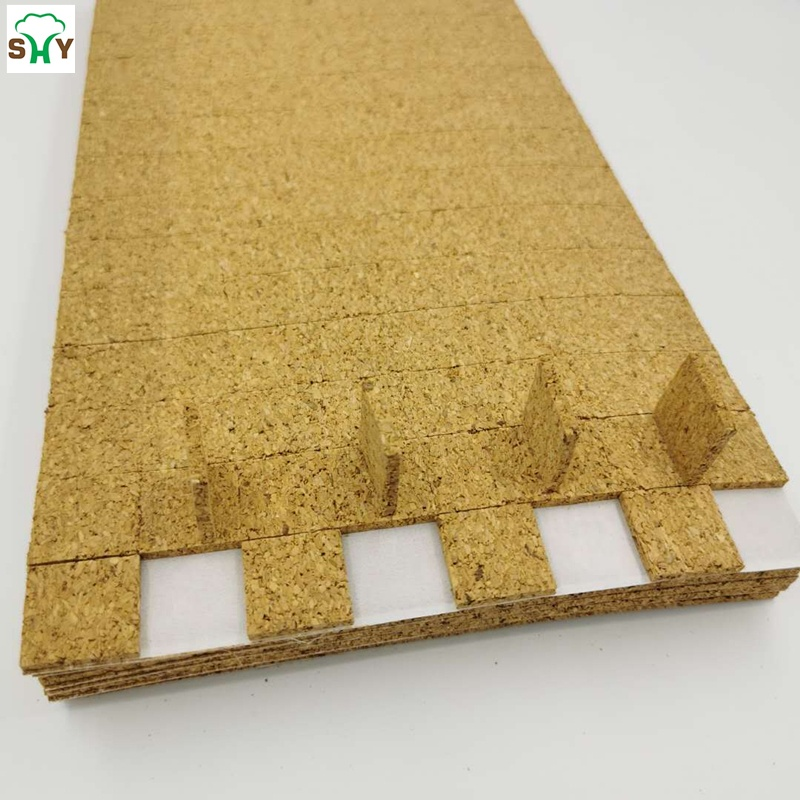 Glass separator cork pads with removable glue for various of  glass products