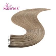 """Распродажа K.S парики 24 """"2,8 г/шт. прямые человеческие волосы Remy Love Line невидимые волосы для наращивания на Клейкой Ленте(Китай)"""