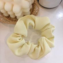 Однотонные вельветовые резинки для волос на осень и зиму, женские эластичные резинки для волос с хвостиком, корейские милые аксессуары для ...(Китай)