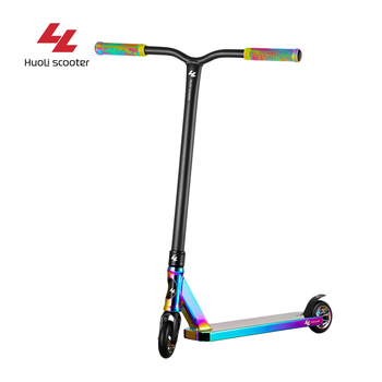 Wholesale 2 Wheel 100mm 110mm Wheel Rainbow Pro Stunt Scooter Freestyle Kick Scooter kids kick scooter