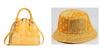 Yellow  purse hand hat