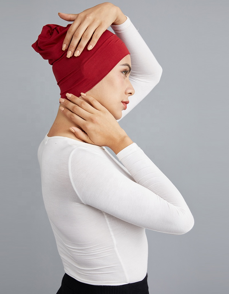 100% cotton muslim women daily wear different color closed undercap hot selling MD00004