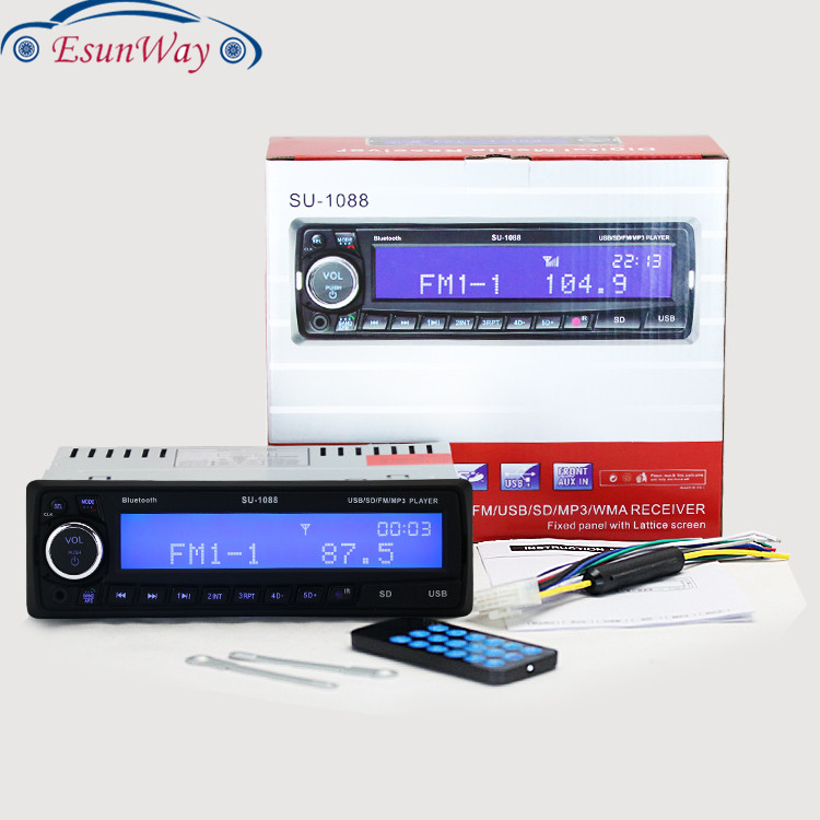 Esunway 12V автомобиль радио MP3 плеер стерео FM стерео AUX-IN MP3 аудио плеер USB SD в тире 1088