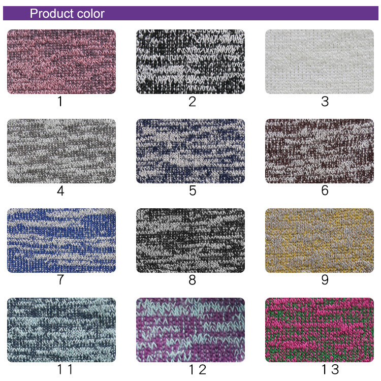 771# 35%T 60% R 5% SP knitted plain snowflake fabric for speckled and women colorful clothing