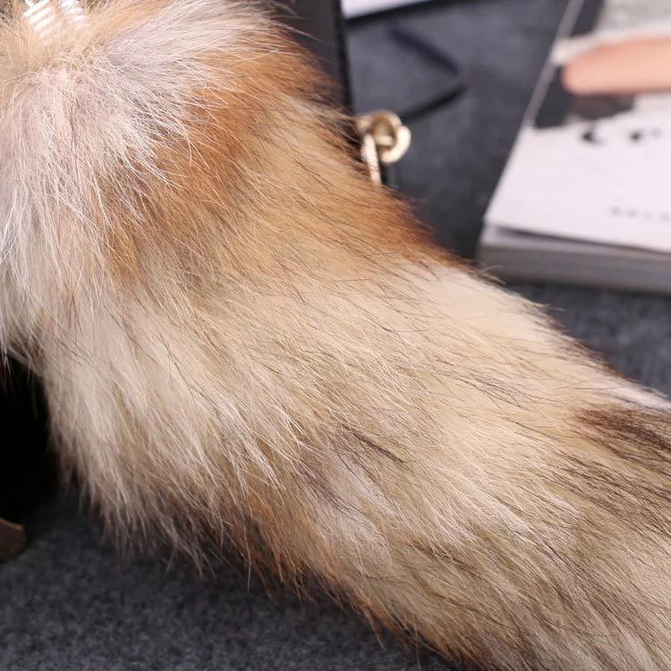 Luxury Fluffy Plush Pendant Fur Keychain Fur Pendant fashion fur ball luggage pendant key chain