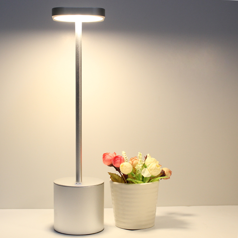 3,5 Вт Светодиодная алюминиевая боковая лампа для кровати Регулируемая Настольная лампа для чтения современная столовая Серебряная Беспроводная лампа для гостиничной гостиной