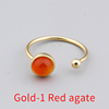 Gold-1 Red agate