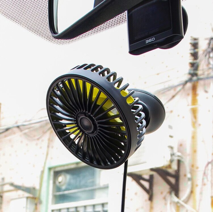 USB Car Cooling Fan Low Noise Summer Air Conditioner 360 Degree Rotating 3 Levels Adjustable Auto Mini Cooling Fan