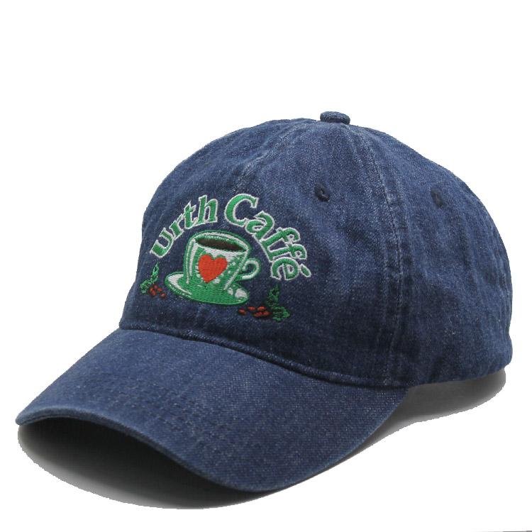 Unstructured custom denim dad hat wsahed sports plain distressed baseball cap