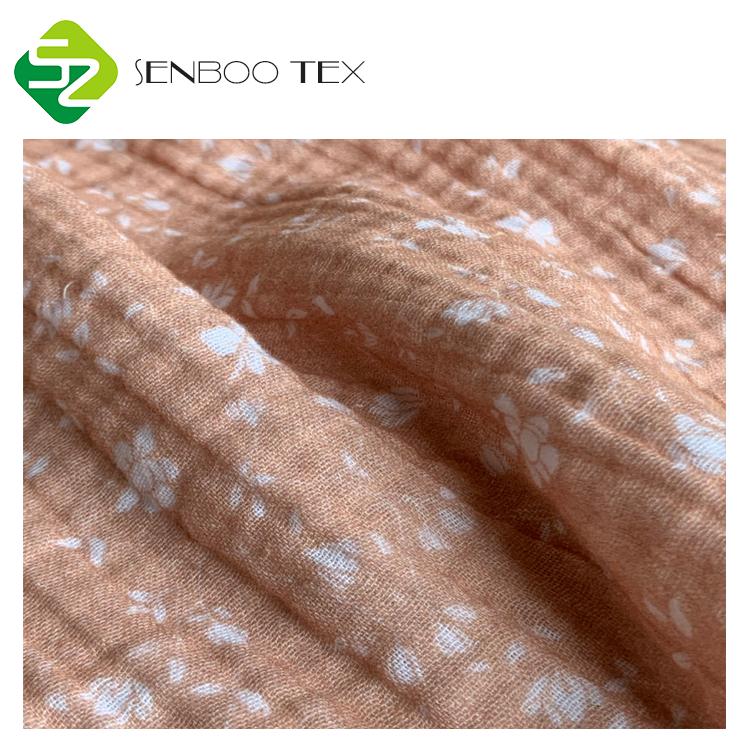 Экологичная Органическая хлопчатобумажная ткань с принтом 4 унции, детские ткани, используемые для детской одежды
