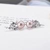 Finished purple pearl earrings