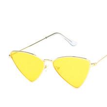 Треугольные солнечные очки с треугольными линзами в стиле ретро, солнцезащитные очки с защитой от ультрафиолета, удобные носоупоры, очки ун...(Китай)