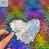 Rainbow hologram / silver hologram