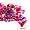 13# 6.5mm Heart Red AB