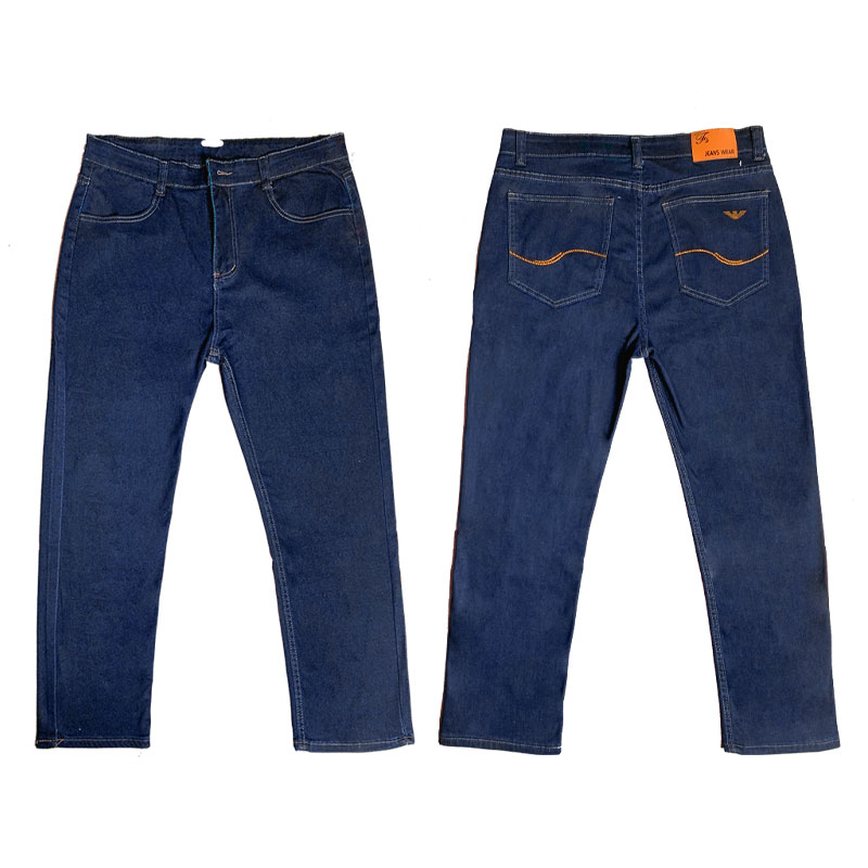 Wholesale men straight large size jeans loose fit stretch pants business all-match casual bottoms high-quality