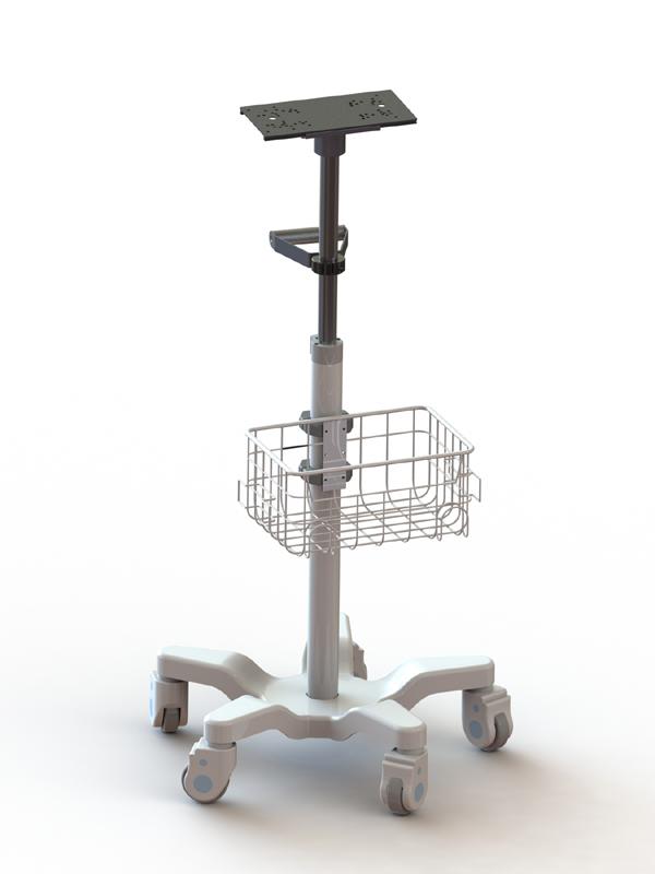 Производитель алюминиевого сплава OEM/ODM монитор пациента тележка для больницы