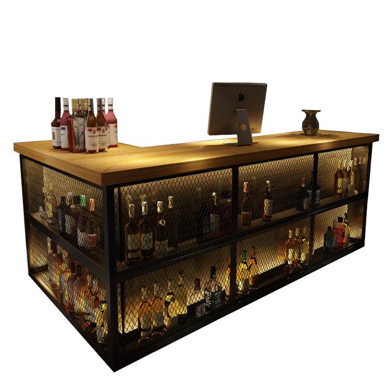 new design fashionable long high industrial vintage restaurant wood slab desk table bar counter