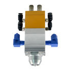 Factory Direct Sales DJF-09 Double Acting Double Cylinder Round Mouth Solid Silicon Pvc Pneumatic Dispenser Valves