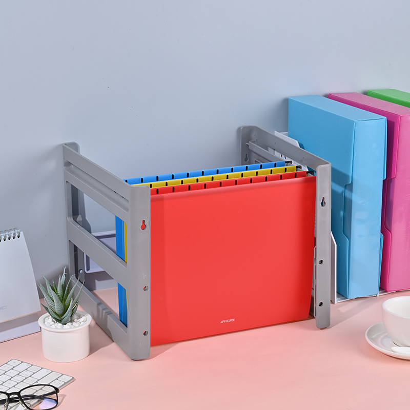 Suspension file A4 PP plastic file folder office stationery A4 size suspension hanging file folders with assorted colors