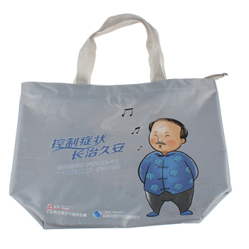 health care product packaging promotion bag 420D nylon polyester tote bag