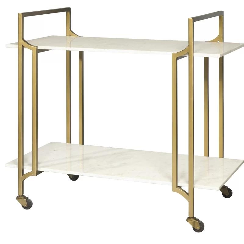 Hot Sale Fashion Luxurious Elegant Trend Gold Metal Bar Trolley Mobile Bar Cart