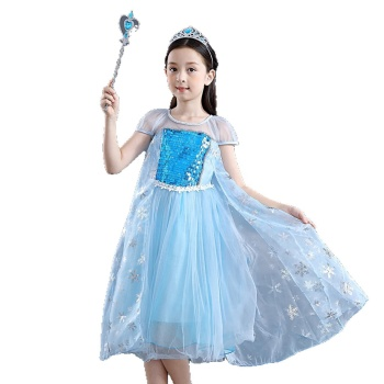 wholesale 2020 party wear frocks European American new princess girls party dresses kids