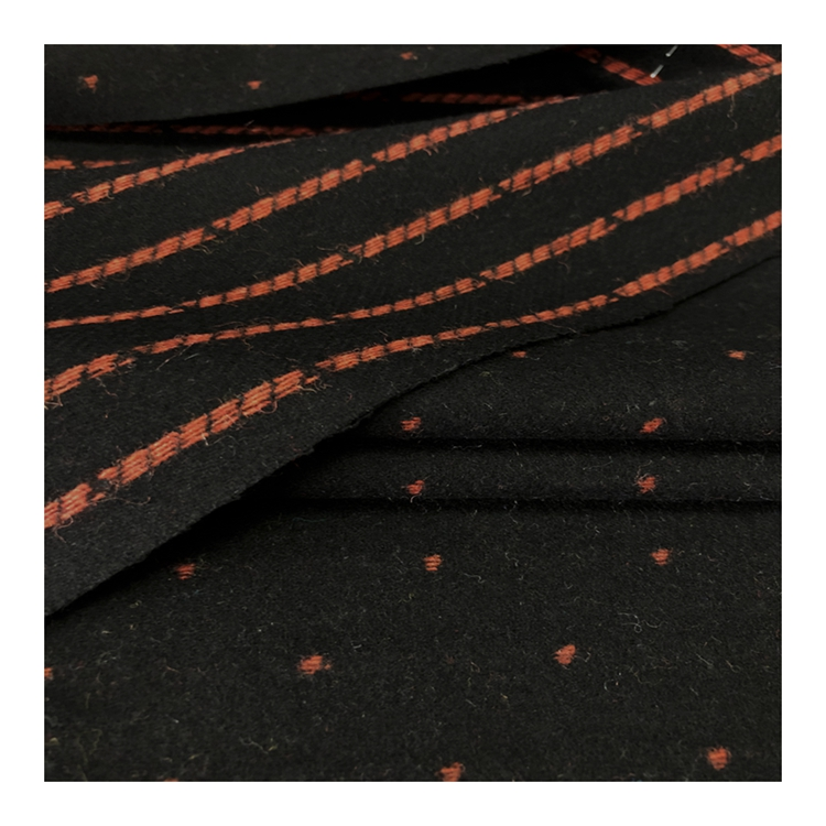 great quality factory wholesale colorful dots single-faced plain 50%wool melton fabric for overcoat
