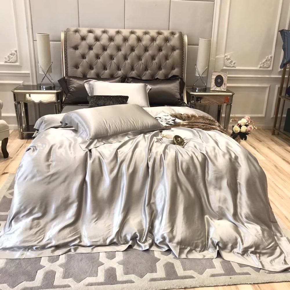 2/3pcs Luxury Satin Silk Bedding Set White Pure Color Duvet Cover Set  European Style Simple Bedclothes Twin/queen/king Size - Buy Velour Queen  Bedding Set,Luxury Satin Silk Hotel Bedding Sets,Nude Bedding Sets Product