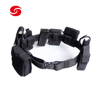 Whole Set Multifunction Nylon Police Duty Utility Belt with Holster and Tool Pouches