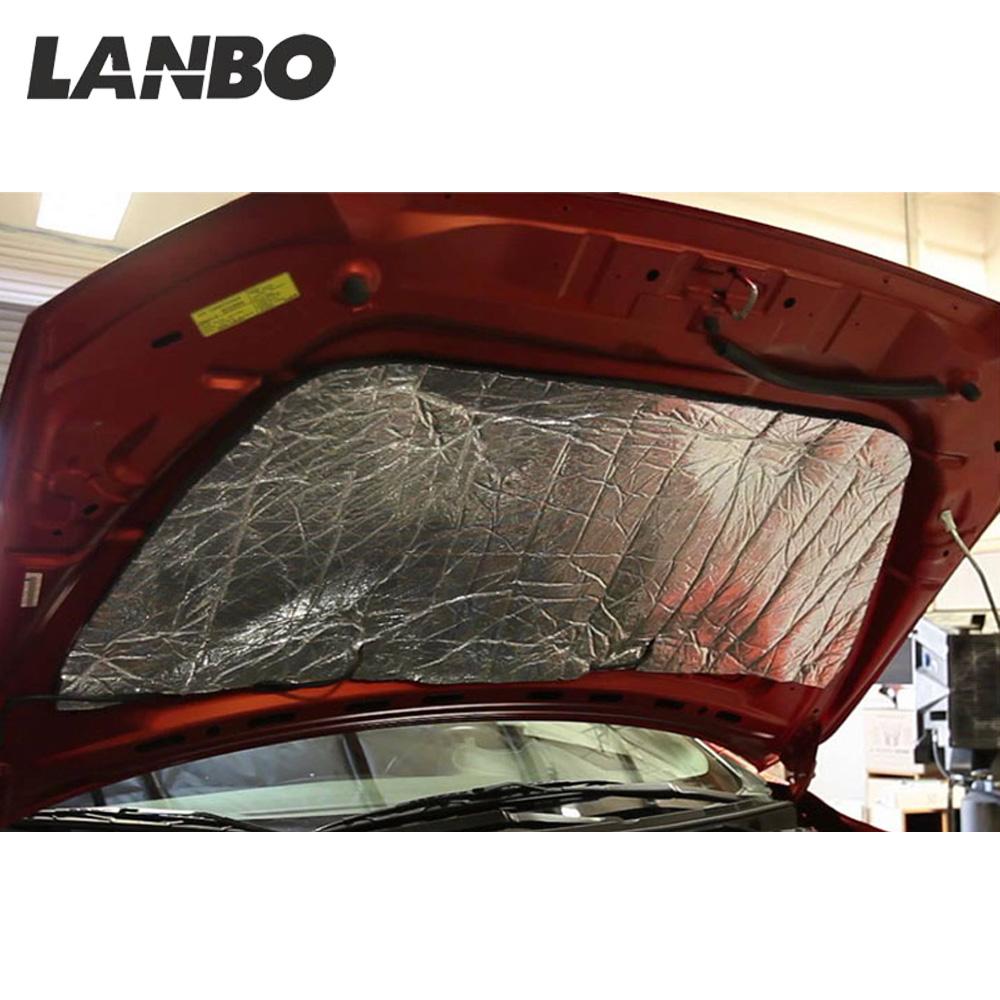 sourcing map Heat Shield Autoadesivo Sound Antirombo Isolamento Termico Tappetino per Auto Cofano Motore 138 x 98Cm