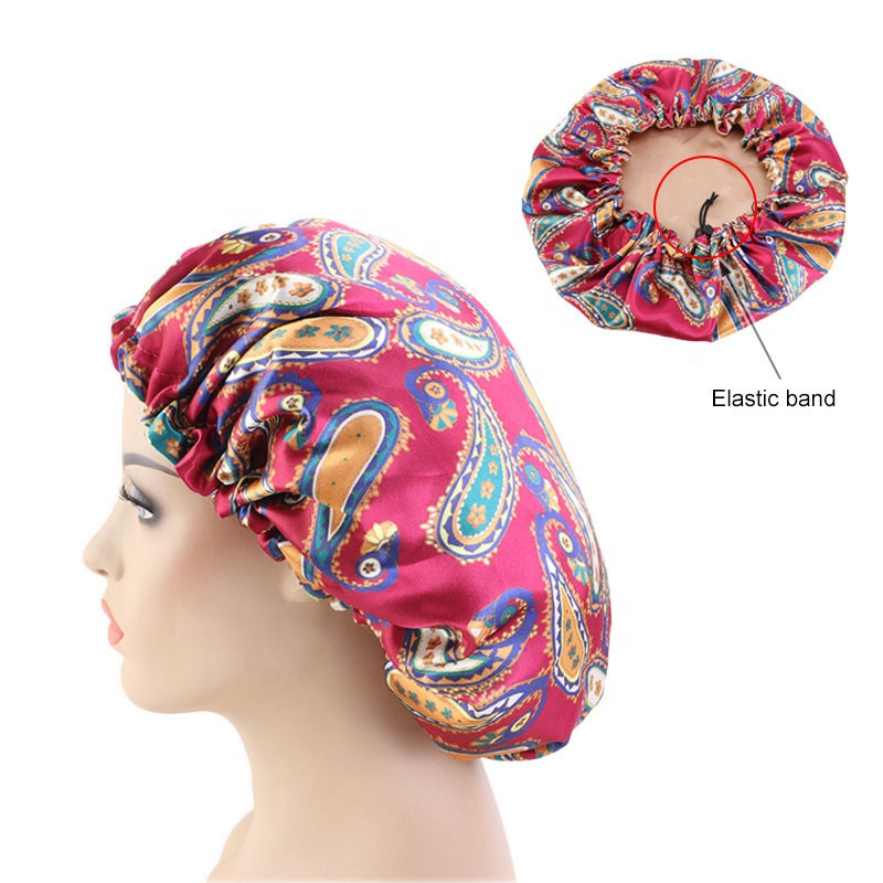 Double Layer Satin Round Hat Nightcaps For Sleeping For Women