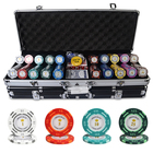 dollar design custom various colors with aluminum suitcase casino 300 500 1000 pcs clay poker chips set